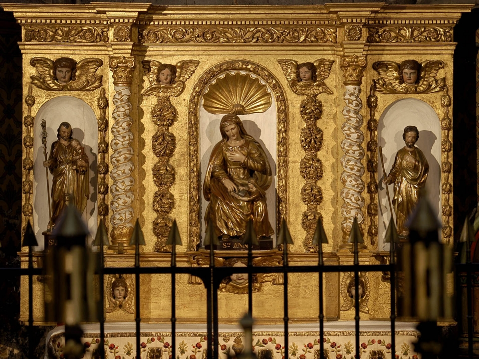 cathedrale de Clermont ; statues ste Anne et saint Joachim