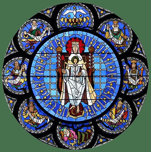 cathedrale de Clermont ; vitraux contemporains, Vierge