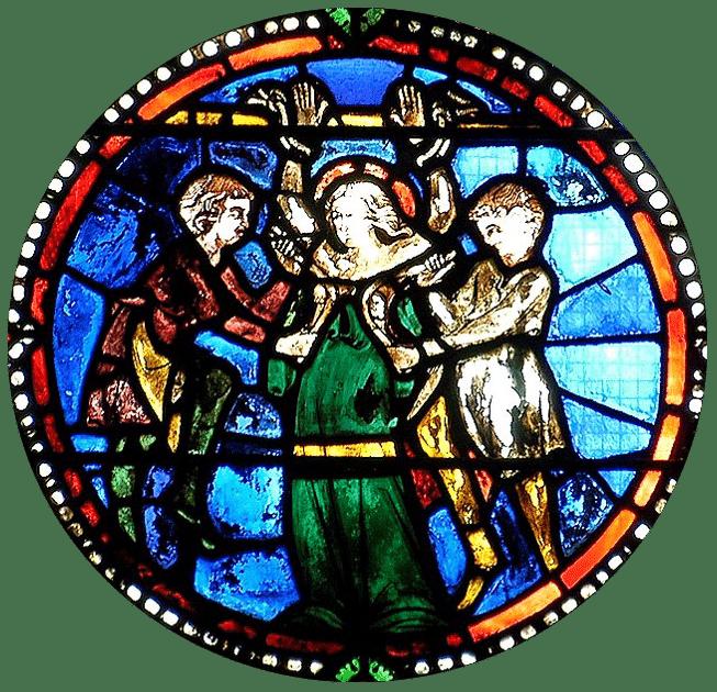 cathedrale de Clermont ; vitraux ste Agathe