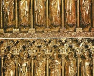 cathédrale Clermont ; autel viollet-le-duc, apôtres