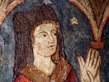 Cathédrale de Clermont ; peinture murale