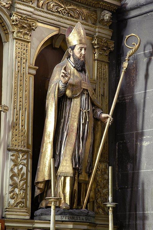 saint François de Sales, Statue XVIIe cathédrale de Clermont