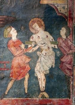 Martyre de saint Georges, peinture XIIIe, cathédrale de Clermont