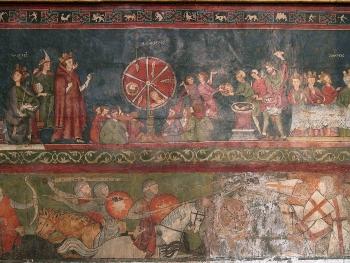 Scène de croisade, et martyre de saint Georges