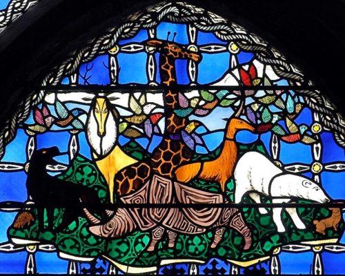 Cathédrale de Clermont ; vitraux d'Alain Makaraviez
