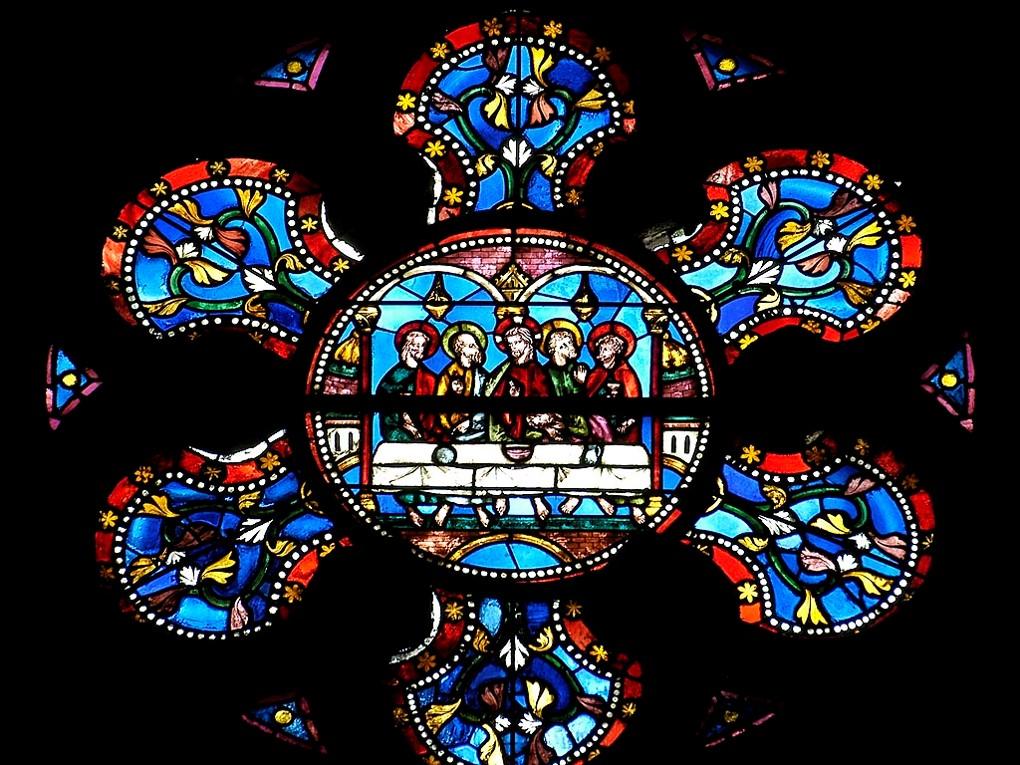 Cathédrale de Clermont ; vitraux -cène