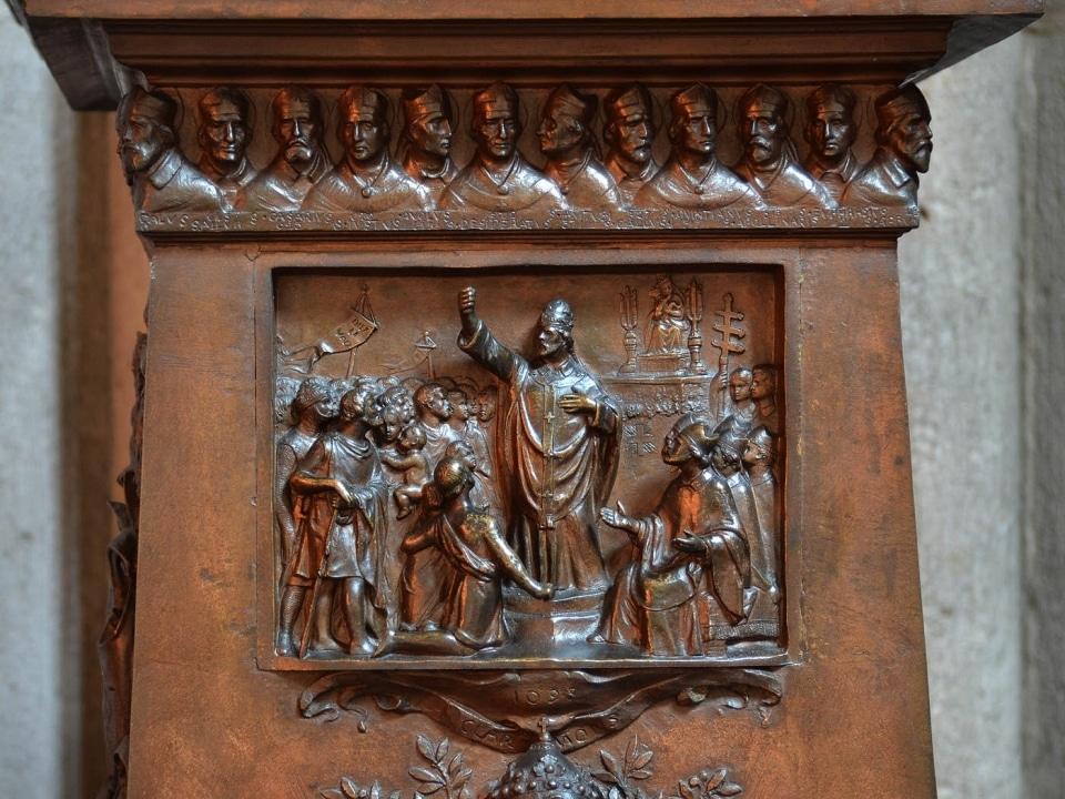 Urbain II prêchant la première croisade, cathédrale de Clermont