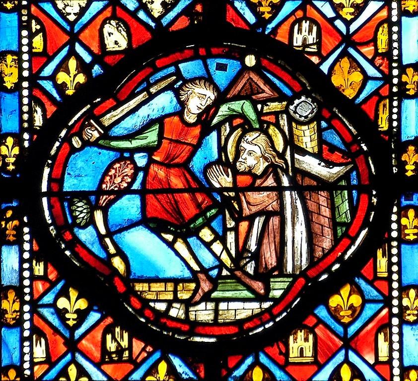 décapitation de saint Jean-Baptiste, cathédrale de Clermont
