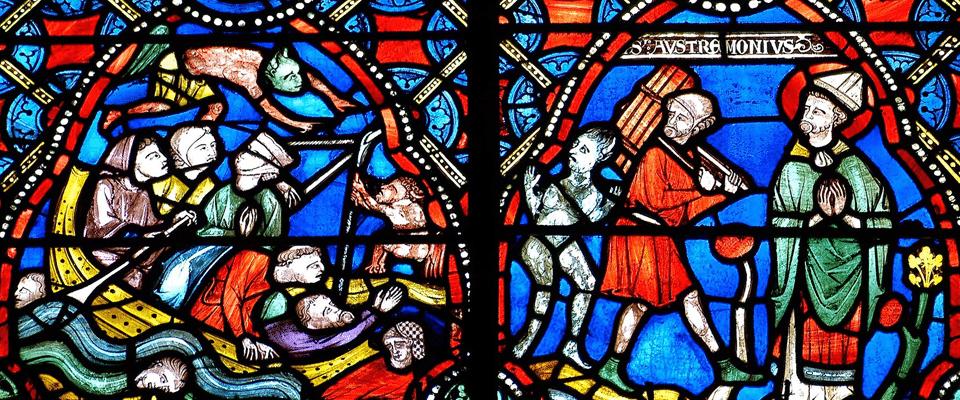 Vitrail ancien de la cathédrale Notre-Dame de Clermont