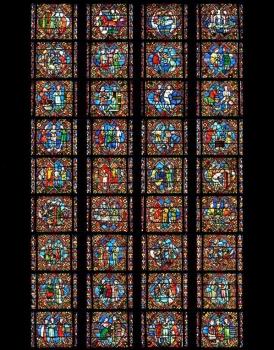 Photomontage Henri Hours, verrière Saint-Georges