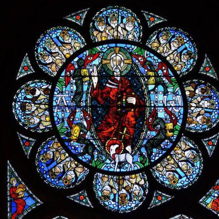 Cathédrale de Clermont ; vitraux-Christ