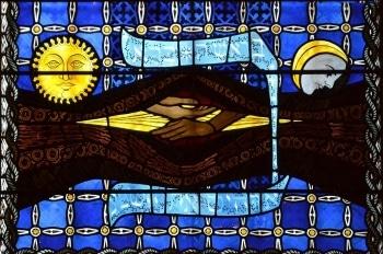 Cathédrale de Clermont ; vitraux lettre Beth