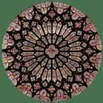 cathédrale Clermont ; rose