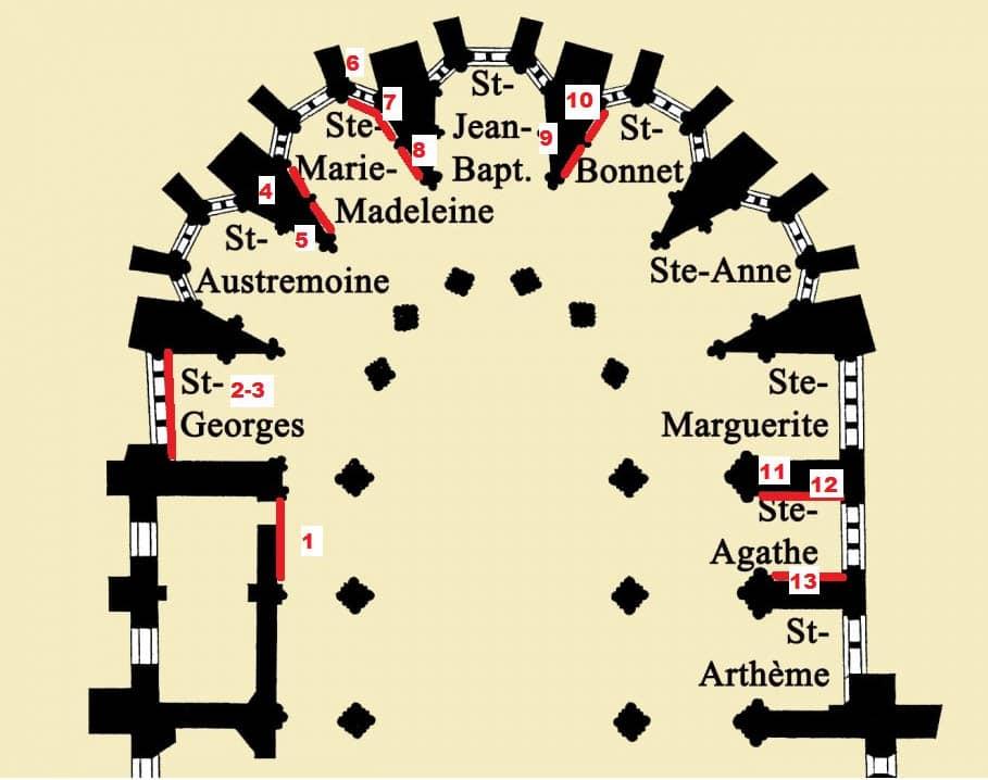 Cathédrale de Clermont ; plan choeur