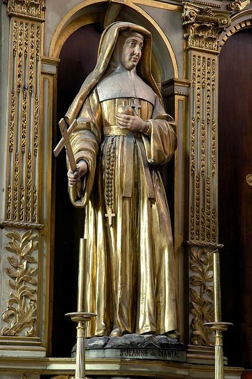 cathédrale de Clermont, statue XVIIe de sainte Jeanne de Chantal