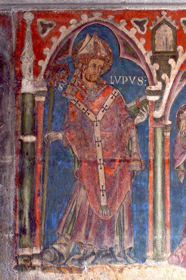 Cathédrale de Clermont ; peinture saint Loup