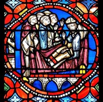 cathedrale de Clermont mort de saint Avit