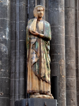 Cathédrale de Clermont ; statue saint Jean