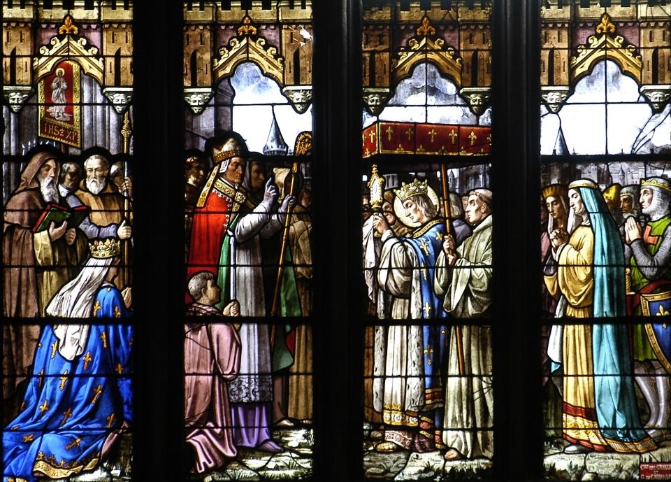 Don des reliques par saint Louis à la cathédrale de Clermont, en 1269.