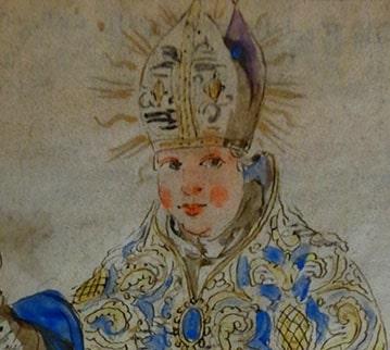 saint Avit, évêque de Clermont. Bibliothèque du Patrimoine de Clermont, missel de 1554