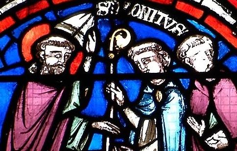 Saint Bonnet remettant sa mitre et sa crosse au chapitre de Clermont