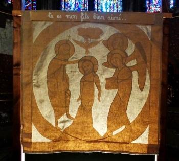 Le baptême du Christ, cathédrale de Clermont, parcours de Noël 2016