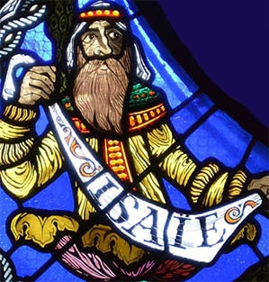 cathédrale de Clermont, vitrail de la Genèse, Makaraviez, 1992