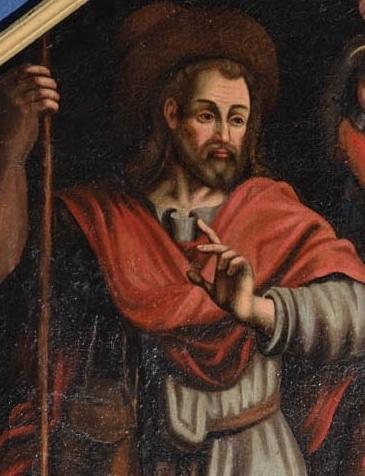 Amis de la Cathédrale.Ennezat, tableau représentant saint Roch