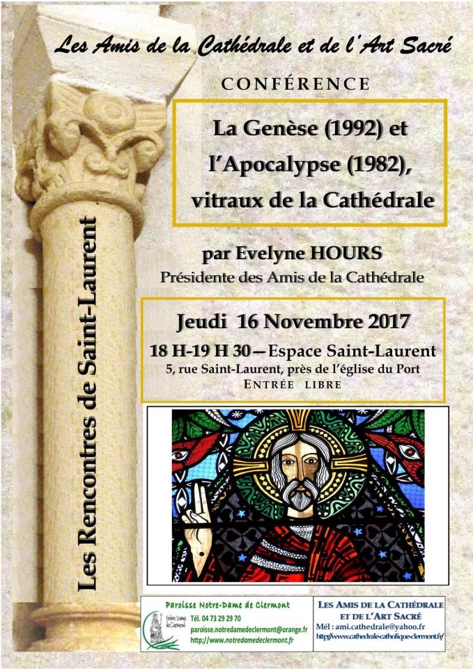 Conférence 16 novembre 2017, Amis de la Cathédrale,