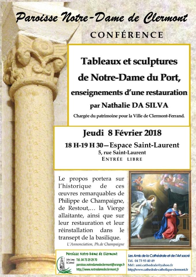 conférence 8 février 2018 cathédrale de Clermont