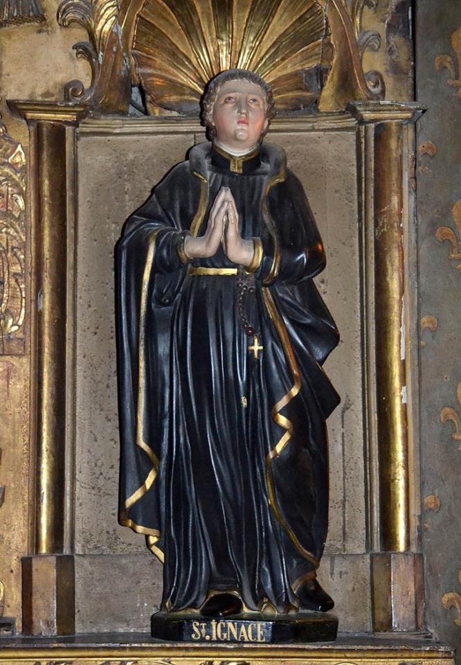Saint Ignace de Loyola, cathédrale de Clermont, statue XVIe