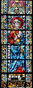 Verrière haute cathédrale de Clermont, saint Pierre, XIIIe