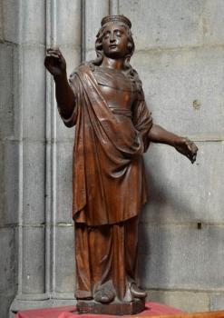 sainte Ursule, statue XVIIe, cathédrale de Clermont