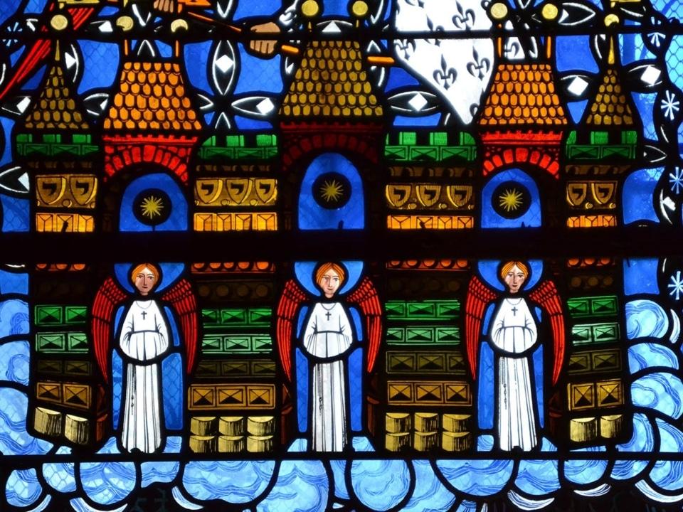 Vitrail de Makaraviez, cathédrale de Clermont, la