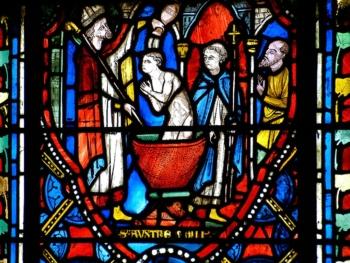 Baptême de Lucius par saint Austremoine, cathédrale de Clermont