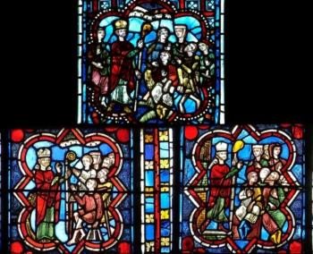Médaillons XIIIe cathédrale de Clermont, comparaison