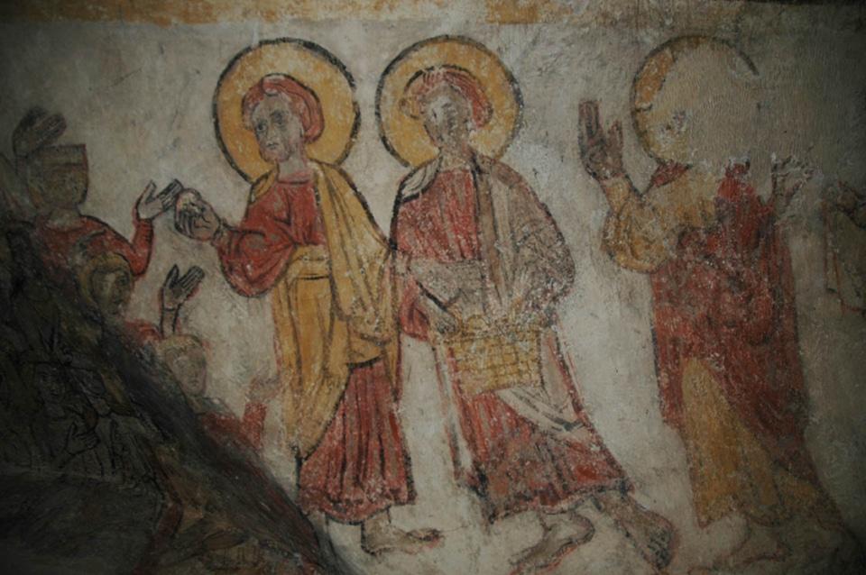 Multiplication des pains, crypte de la cathédrale de Clermont