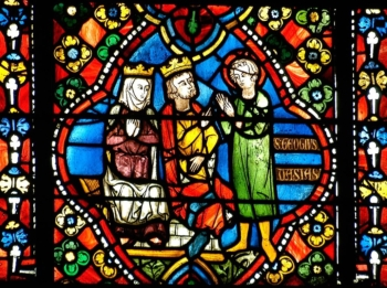 Saint Georges présenté au roi Dacien, et à la reine Alexandra, cathédrale de Clermont
