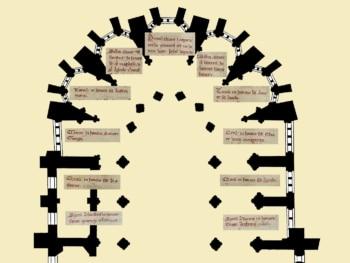 plan du chœur de la cathédrale de Clermont