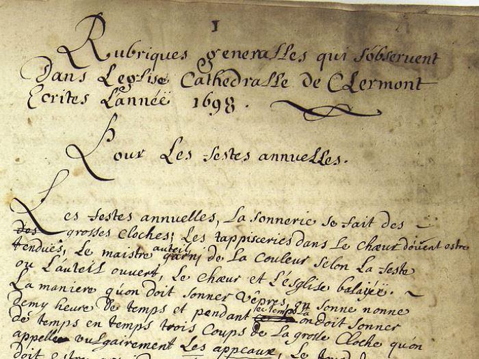 Archives départementales du Puy-de-Dôme, 3 G 31, Cathédrale de Clermont