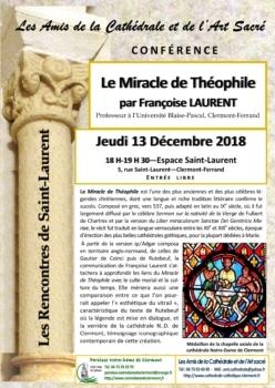 Conférence sur le Miracle de Théophile, de Mme Françoise Laurent