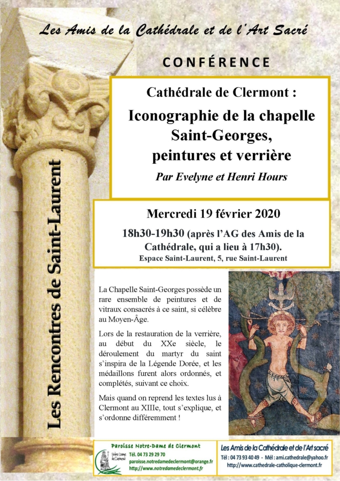Amis de la Cathédrale de Clermont - Iconographie de la Chapelle Saint-Georges