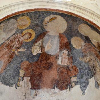 Glaine-Montaigut ; peinture abside