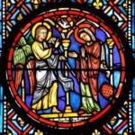 Annonciation, médaillon de Gaudin, XXe, cathédrale de Clermont