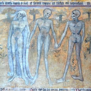 Ennezat, fresque gothique, les trois morts