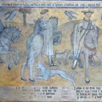 Ennezat, fresqque gothique, les trois vifs