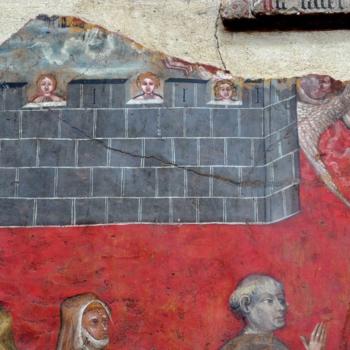 Ennezat, le Jugement dernier, la Jérusalem céleste