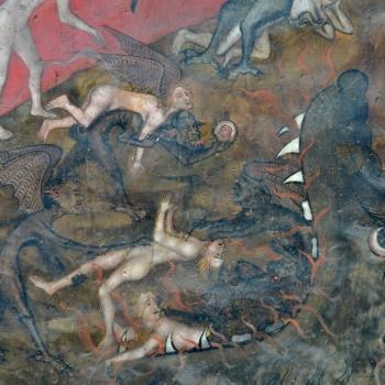 Ennezat, fresque gothique, l'enfer