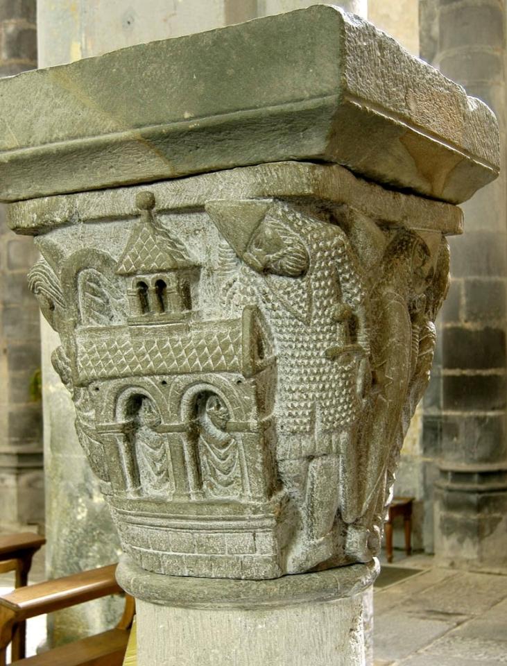 Chapiteau de Mozat, XIIe, les soldats endormis