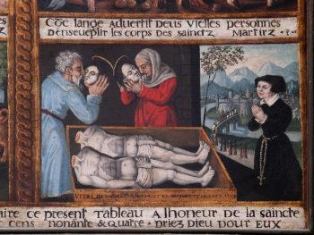 tableau du martyre de saint Crépin et saint Crépinien, cathédrale de Clermont